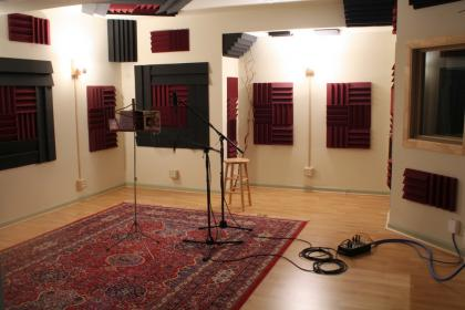 Avatar Studios - Performance Room with Microphones Setup