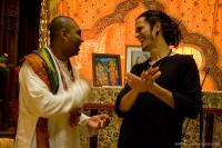 Caitanya Bhagavan das talking with Ray Ippolito after the event.