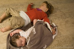 Gaura's youngest fans knocked out after the kirtan.