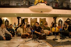 Gaura and Madi lead kirtan together
