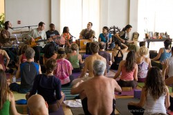 Gaura Vani and As Kindred Spirits perform during Saul's Sunday Morning Class