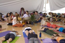 Kirtan during Shiva Rea's Yoga Class