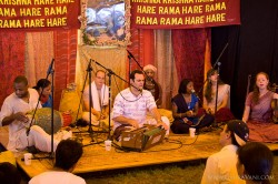 Kirtan at the Festival Stage at the Manor