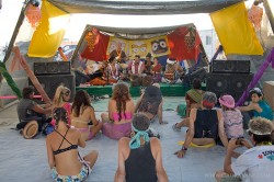 Kirtan on the Esplanade at the Krishna Camp Stage