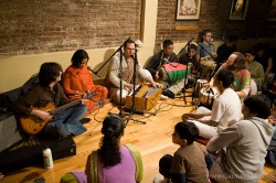 Gaura Vani leads the kirtan.