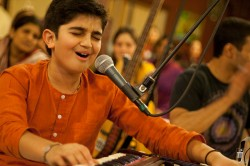 Ayush at the 24 Hour Kirtan Kartik