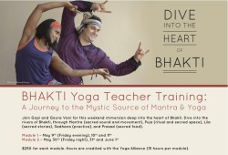 Bhakti Yoga Teacher Training with Gaura Vani and Gopi